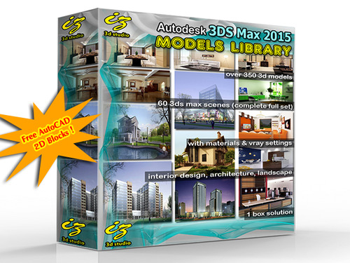 Product picture Autodesk 3DS Max Models Library 2015 with AutoCAD Blocks