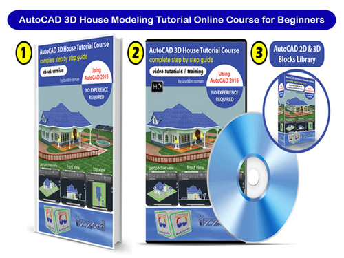 Product picture AutoCAD 3D House Modeling Tutorial Online Training Course